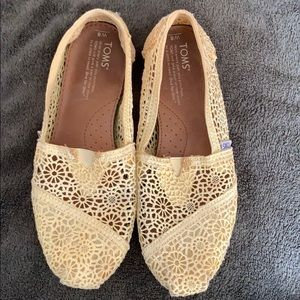 Toms yellow slippers